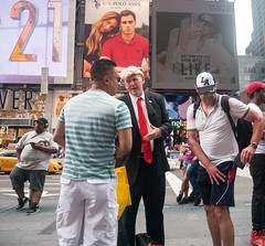 Trump Impersonator (UrbanphotoZ) Tags: trump donaldtrump impersonator toolongtie tourists uspoloassn 21 forever21 vogue showwhatyoulike men cds headphones promoter timessquare midtown westside manhattan newyorkcity newyork nyc ny