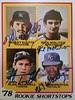 1978 Topps Baseball Rookie Shortstops autographed (acase1968) Tags: paul molitor mickey klutts alan trammell ul washington baseball cards vintage autographed signed 707 card number topps rookie shortstops