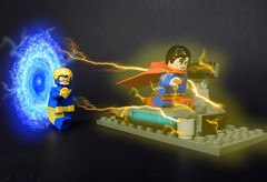 Clark Point (MrKjito) Tags: lego super hero minifig dc comics comic universe rebirth superman booster gold krypton jorel mr oz effect action 992 cosmic treadmill time travel flash