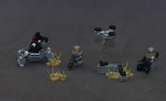 Military Stuff (robbadopdop) Tags: scifi minifigures military trooper moc lego drone gun