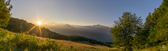 Morning in the french Alps (SeSonnen) Tags: alpen baum berg frankreich landschaft natur panorama sonne sonnenaufgang wald wiese wolken alps tree mountain montblanc france landscape nature sun sunrise forest clouds meadow himmel sky