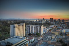 The Edge Of Downtown (Spebak) Tags: spebak sandiego southerncalifornia socal skyline canon canondslr canon70d fromabove city sunset buildings landscape sky harbor apartments architechture