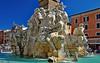 Rome, the city of marvels (Ciceruacchio) Tags: fountain fontana fontaine fourrivers quattrofiumi quattrefleuves sculpture scultura baroque barocco gianlorenzobernini bernin piazzanavona rome roma rom italy italia italien nikon
