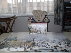 I'll give it 5.9!* (pefkosmad) Tags: jigsaw puzzle 1000pieces used secondhand complete hobby pastime leisure rijksmuseumamsterdam winterlandscapewithiceskaters painting art hendrickavercamp winter people skating tedricstudmuffin teddy ted bear animal toy cute cuddly plush fluffy soft stuffed