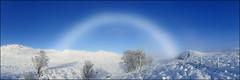 Fogbow (McRusty) Tags: fogbow like rainbow but fog snow sunshine mist glen highland scotland blue sky natural outdoor beauty great