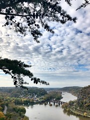an afternoon in the country 🍂 ☁️ 💦 (anokarina) Tags: harpersferry westvirginia wv appleiphone8 country autumn blueridgemountains appalachiantrail shenandoahrivervalley river mountains trees woods fall clouds bridge jefferson scenic scenery nationalparkservice nps nationalpark park