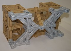 Modular origami table support structure (ISO_rigami) Tags: modular origami a4 zebra 3d table paper construction