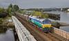 Coals to Newcastle. (Dave McDigital) Tags: 6e01 coal train hoppers 66711 sence derwenthaugh staithes river derwent tyne 66 class66