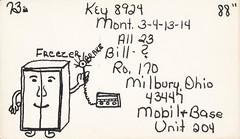 Freezer - Milbury, Ohio (73sand88s by Cardboard America) Tags: qsl qslcard cbradio cb vintage ohio freezer