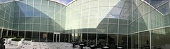 Courtyard of Aga Khan Museum Toronto (JP Newell) Tags: courtyard aga khan museum toronto agakhan fumihiko maki iphone pano windows light