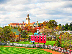 LaRoche College (gerhil) Tags: travel landscape college campus scenic stadium field sports baseball serene small ncaa divisioniii autumn october2017 nikcolorefexpro4 grass tree garden park building tower sky zclouds 1001nights 1001nightsmagiccity