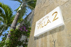 Entrée de la villa au Griya Villas and Spa