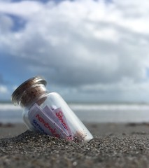 Messages to mermaids maybe 📝 (staceygallagher2) Tags: ruleofthirds lowangle coast water ocean seaside shallowdepthoffield scenery scenic sea beach letter message noteinbottle bottle note