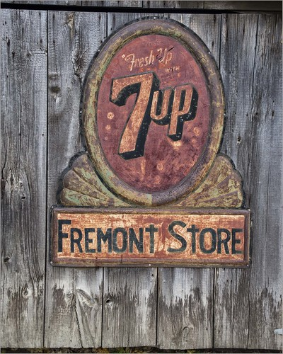 Age Old Advertising on the Old Fremont Store