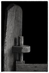 gate hinge (keithnovak) Tags: timber rustic rural farm blackandwhite monochrome