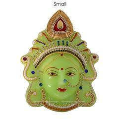 Goddess Mahalakshmi Face/Mukhavta in  Radium   VedicVaani.com (vedicvaani.com) Tags: mukhavta goddess mahalakshmi devi face radium mask online lakshmi margashirsha puja laxmi big small