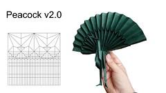 Peacock v2 (Mdanger217) Tags: max danger origami peacock v2 cp biotope
