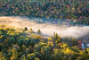 Valley Mist (Kevin Pihlaja) Tags: brockwaymountain copperharbor keweenaw coppercountry upperpeninsula michigan autumn morning valley fog landscape nature mist trees forest woodland sunrays fallcolors fall
