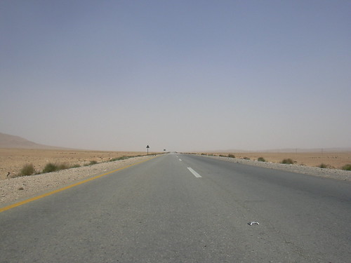 Fahrt durch die Wüste von Palmyra nach Damaskus