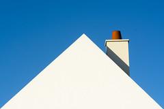 Roof with chimney (Jan van der Wolf) Tags: map174245ve chimney roof dak huis redrule rood minimalism minimalistic minimalisme minimal geometric geometry house driehoek triangle