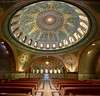The interior of the historic 1908 Lakewood Memorial Chapel in Minneapolis, Minnesota,  The chapel was designed by architect Harry Wild Jones with mosaics by designer Charles Lamb of Lamb Studios in New York.  Jones design was based on Hagia Sophia (thstrand) Tags: designers design interiors 19001909 1900 1900s 1908 1909 tessellae artwork byzantine sanctuary alcove domes dome structures builtstructure buildings building inside interior tile visualarts decorativeart ornate traveldestination landmark religioussymbols religion church 12tribesofisrael angels marble glasstiles mosaics mosaic chapel early20thcentury nationalregisterofhistoricplaces architecture charleslamb harrywildjones architect american mn minnesota minneapolis lakewoodmemorialcemetery