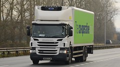 NK64 VJM (panmanstan) Tags: scania p280 wagon truck lorry commercial supermarket transport vehicle a63 everthorpe yorkshire