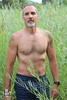 Craig (Levi Smith Photography) Tags: muscle daddy grass shirt chest pecs hot man beard goatee gray older handsome guy men mens fashion