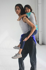 Niece and Nephew (Scarlet Floyd) Tags: family brother sister little tall model siblings sibling studio piggy back ride love skinny thin mixed modeling young