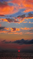 Nature's Statement (mikederrico69) Tags: skyline sky sunset dusk clouds colorful peaceful meditation summer seascape seaside beach trip travel tropical sun sea orange world ocean beaches carribean island islands outdoors blue dark