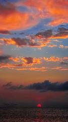 Nature's Bliss (mikederrico69) Tags: skyline sky sunset dusk clouds colorful peaceful meditation summer seascape seaside beach trip travel tropical sun sea orange world ocean beaches carribean island islands outdoors blue dark