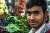 Hi, Bondo! (Hiro_A) Tags: dhaka bangladesh banani wetmarket market people man bangladeshi vegetable sony rx100m3 portrait