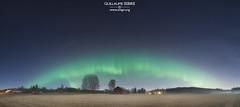 Beautiful aurora stretching across the Southern Finland horizon (g u i l l a u m e) Tags: espoo helsinki finland aurora
