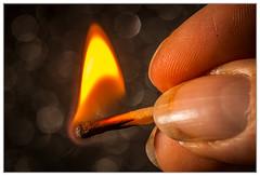 Matchstick Pyrotechnics (EddieAC) Tags: macromondays fingertips match fire light matchstick warm