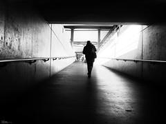 A long way home (René Mollet) Tags: wayhome underground way station street streetphotography shadow silhouette streetart streetphotographiebw trainstaion renémollet urban urbanstreet candite