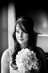 Robyn (STATICphotography82) Tags: wedding bride blackandwhite bnw portrait beauty beautiful bouquet natural light f18 nikon nikond7000 d7000 nikkor photoshop cc