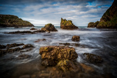 Creaking and Groaning (Augmented Reality Images (Getty Contributor)) Tags: portknockie longexposure coastline landscape leefilters sunshine scotland water waves colours morayfirth canon seascape clouds rocks unitedkingdom gb