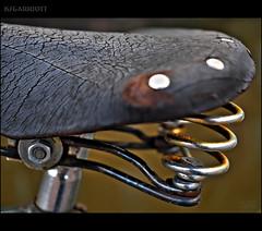 Saddle (SGarriott) Tags: ksgarriott scottgarriott olympus omd em5ii 1240mmf28 holland netherlands nl amsterdam bike bicycle cycle seat saddle leather spring metal old age rust detail