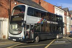 Transdev Yorkshire Coastliner 2763, PJ05ZWL. (EYBusman) Tags: transfer yorkshire coastliner blazefield bridlington bus station town centre east wright eclipse gemini volvo b7tl pride north lancashire united harrogate district 2763 pj05zwl eybusman burnley pendle