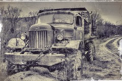 Old But Gold (mmalinov116) Tags: old gold car truck autotruck mono sepia зил zil automotive military