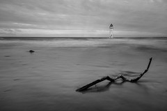 Perch Rock Lighthouse (A Crowe Photography) Tags: perchrock perchrocklighthouse beach newbrightonlighthouse newbrighton blackandwhite blackwhite mono monochrome longexposure longexposurephotography canon6d canon sea seascape