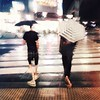 gently riding the waves... (tabiwallah) Tags: street streetphotography streetabstract squareformat square rain umbrella slowshutter slowshuttercam mood iphone iphone6s iphoneography ueno 上野 東京 blur