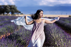 Saray - 3/6 (Pogdorica) Tags: modelo sesion retrato posado chica campo lavanda brihuega saray tattoo