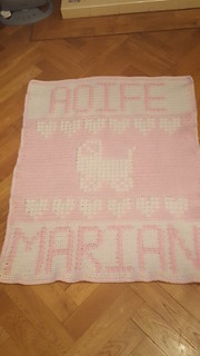 Pram blanket for Aoife