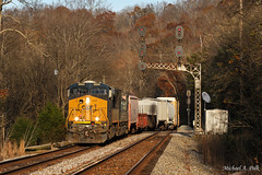 CSXT 3003 @ Walbridge, KY (Michael Polk) Tags: csxt ge gevo q69317 freight train general electric locomotive chesapeake ohio uss signals rb big sandy subdivision kentucky louisa