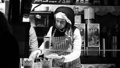 festive market at night 08 (byronv2) Tags: festive festivemarket christmasmarket peoplewatching candid street princesstreet princesstreetgardens edinburgh edimbourg edinburghbynight night nuit nacht blackandwhite blackwhite bw monochrome market mound