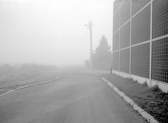 One foggy morning before work. (wojszyca) Tags: fuji fujica gsw680iii 6x8 mediumformat fujinon sw 65mm ilford hp5 hc110 163 gossen lunaprosbc epson v800 fog morning suburbs tychy