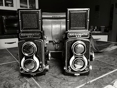 "The twins. Ricohmatic 225 TLR. Ready for 120 B&W film. • <a style=""font-size:0.8em;"" href=""http://www.flickr.com/photos/62007215@N04/37811693364/"" target=""_blank"">View on Flickr</a>"
