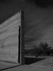 Wall / Old Girvin (Elmore Dodge) Tags: light angles building abandoned monochrome bw pecoscounty girvin texas