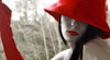 Red & Whites (coollessons2004) Tags: krystalsmith woman mysterious red hat gloves beautiful