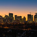 City of Edmonton skyline after sunset